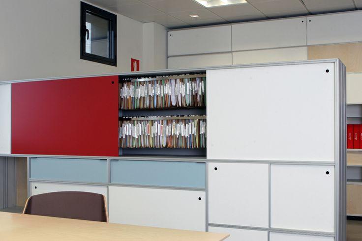 Mueble archivador a 2 caras separador de ambientes for Mueble archivador oficina