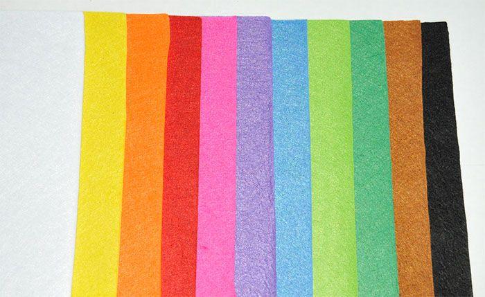 Filc  20 cm x 30 cm / Colorful felt