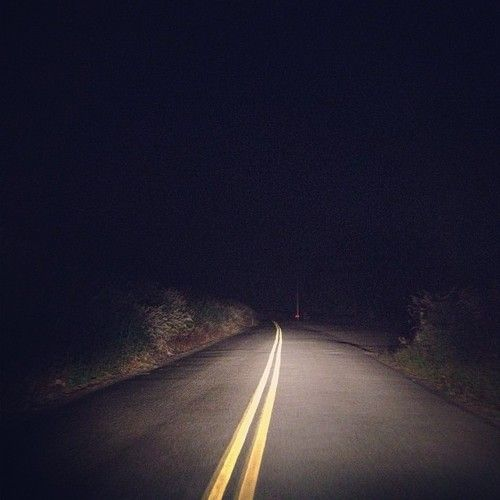 Lost Highway by David Lynch: I like Lynch's use of the image of driving along the road at night. The glare of the headlights on the road