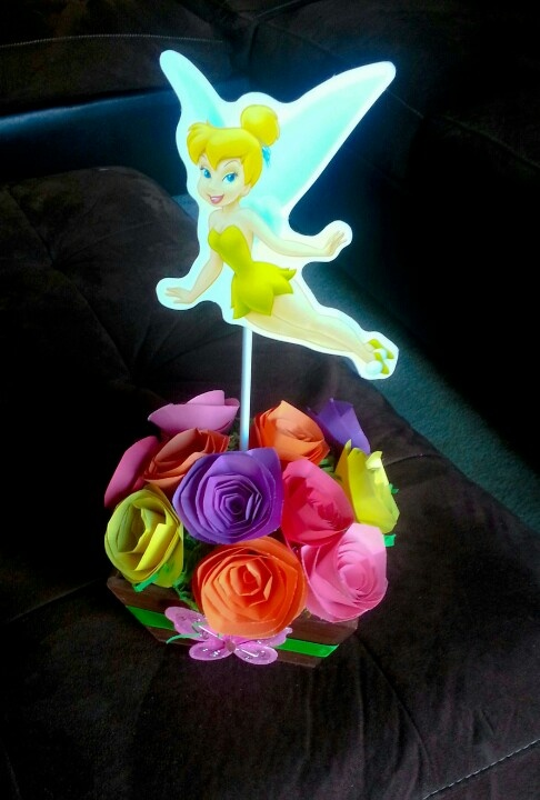 DIY Tinkerbell Party Centerpiece Decoration | Invitations ...