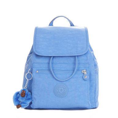 Ella Small Drawstring Backpack - Blue Skies Sparkle Web