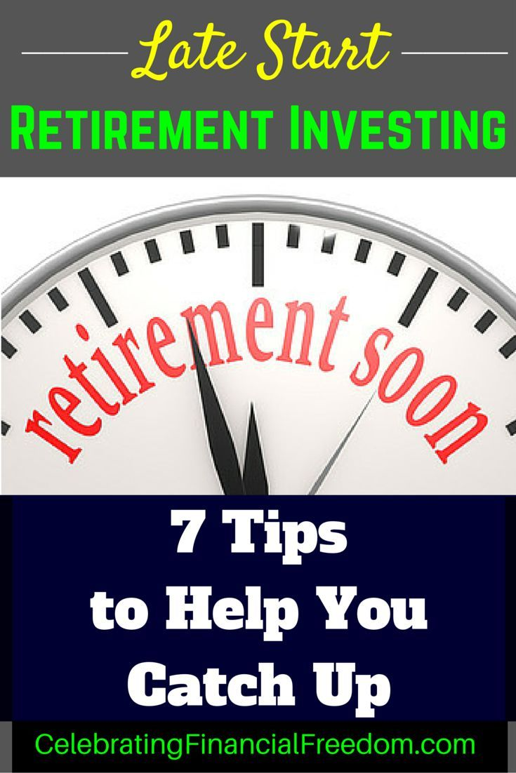 Getting a late start investing for retirement?  You're not alone!  Click the pic…