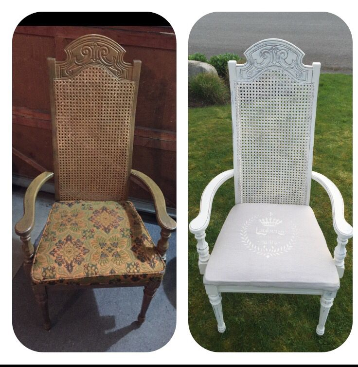 Chalk painted captains chair