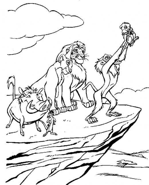 lion king printable coloring pages