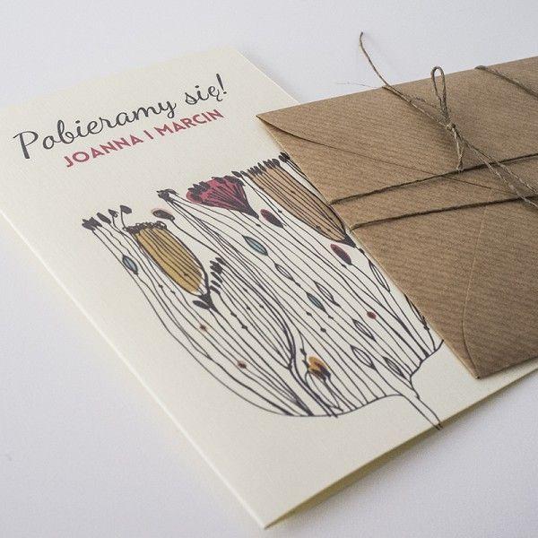 original and creative wedding card / invitation with eco envelope // oryginalna i kreatywna papeteria ślubna // zaproszenia ślubne // http://paperstory.pl/pelna-oferta/35-zaproszenie-z-maczkiem.html