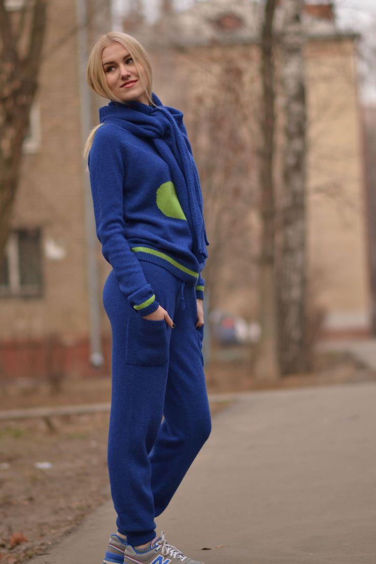 """Вязаный костюм """"Стильный город"""" из 100% мериноса"""