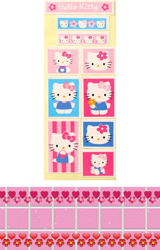 Hello Kitty D.I.Y. licensed sticker money box