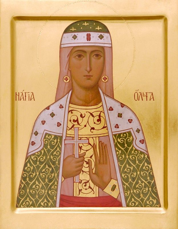 Holy Princess Olga - Icons from the Workshop of St. Elisabeth Convent - Handmade - Hand-Painted - Visit our website for more information: http://catalog.obitel-minsk.com/icon-painting #CatalogOfGoodDeeds #Orthodox #Eastern #Church #Orthodoxy, #Miracle, #Blessed #Faith #Saint #Princess #Olga