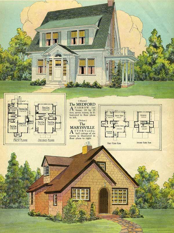 Vintage house plans | houses i like | Pinterest | Vintage