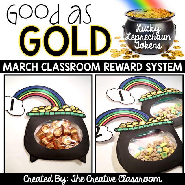 Classroom Reward System for St. Patrick's Day http://the-creative-classroom.blogspot.com/2016/03/classroom-reward-system.html