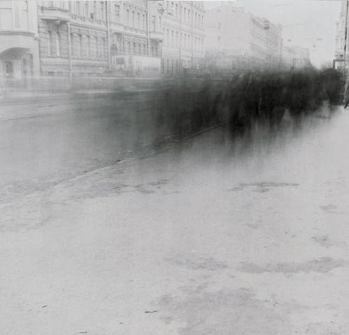 Alexey Titarenko (b.1962, Russia) - City Of Shadows | Untitled (Crowd 3) (1992)  [more Alexey Titarenko]