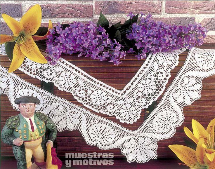 INSTRUCCIONES Y GRÁFICOS DISPONIBLES EN NUESTRO KIOSCO DIGITAL  www.e-muestrasymotivos.com. Con el sello de calidad de Ediciones Muestras y Motivos. http://www.e-muestrasymotivos.com/15-puntillas