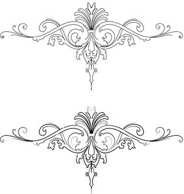 Baroque patterns vector 11698 - by AZZ on VectorStock®