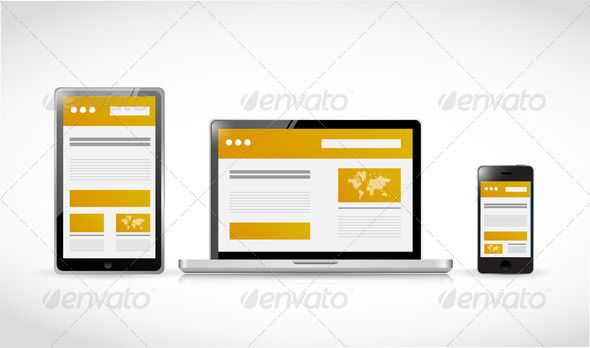 websites web responsive concept illustration - Stock Photo - Images