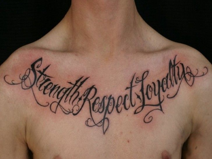 "Mens Quote #Tattoo ""Strength, Respect, Loyalty"" #Tattoos"
