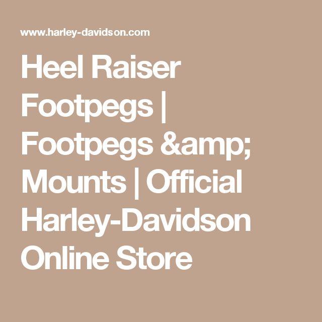 Heel Raiser Footpegs | Footpegs & Mounts | Official Harley-Davidson Online Store