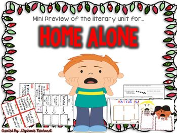 Check out a preview of my Home Alone Literary Unit that is Common Core Aligned! This freebie includes a character trait graphic organizer, one of five comprehension question pages, a venn diagram as well as a writing prompt.  CLICK HERE  to check out the entire 70 page Home Alone MEGA unit!