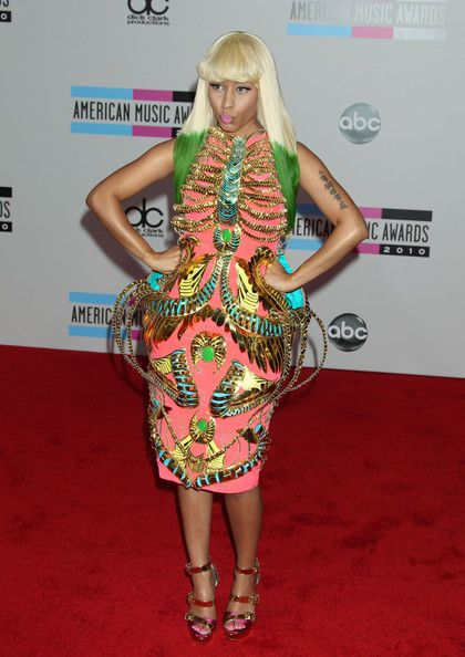 Nicki Minaj.. her outfits are always over the top and awesome!