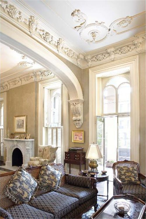 better ceiling decoration with molding georgian | 37 Ceiling Trim And Molding Ideas To Bring Vintage Chic ...