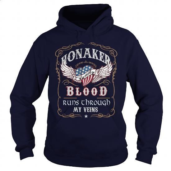 HONAKER - #gift for her #gift exchange. GET YOURS => https://www.sunfrog.com/Names/HONAKER-139345816-Navy-Blue-Hoodie.html?60505
