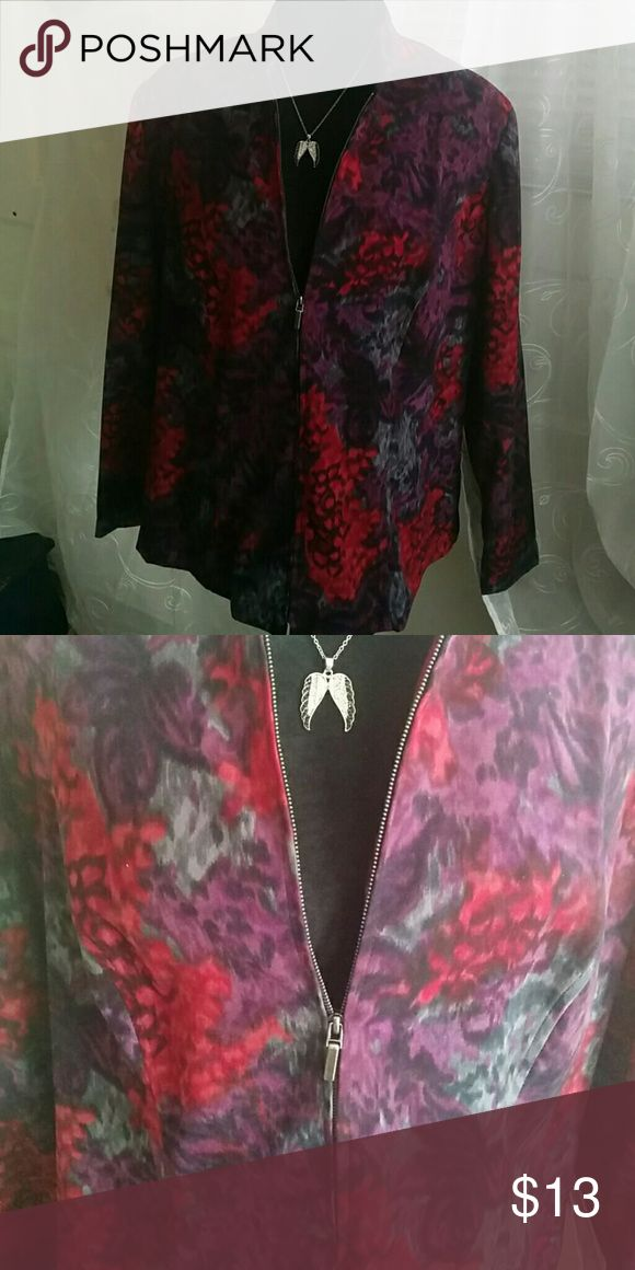 Jacket A Womens floral zip up dress jacket. Like new/ never worn. Notations Jackets & Coats Blazers