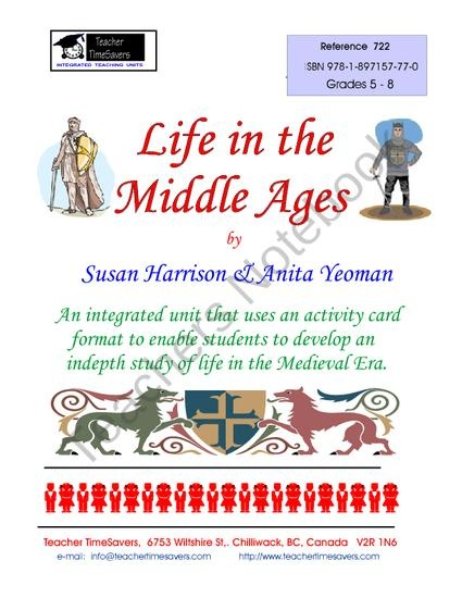 Life in the Middle Ages from Teacher Timesavers on TeachersNotebook.com (66 pages)