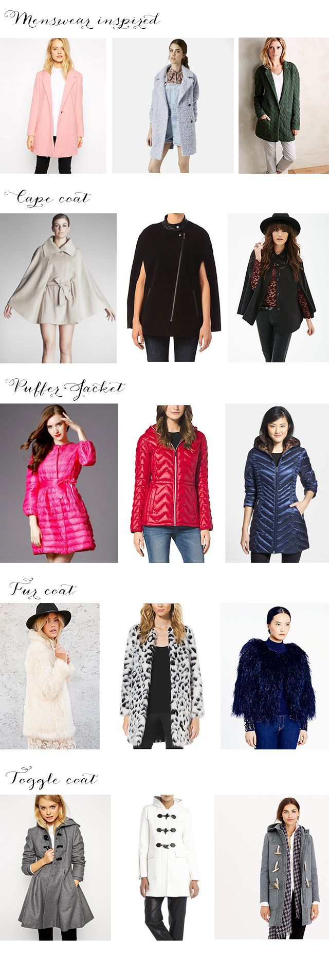The 5 winter coats you MUST HAVE this year!!!