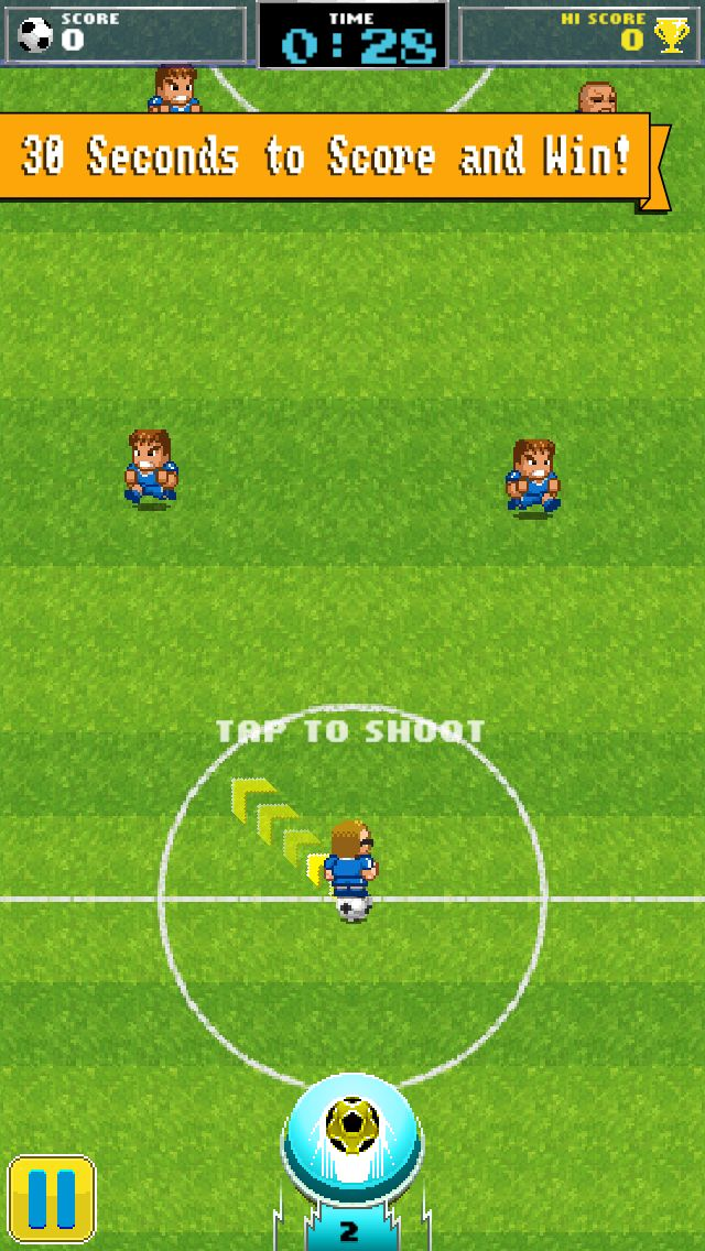Our 8 bit soccer game is full of intense and heart pounding plays!