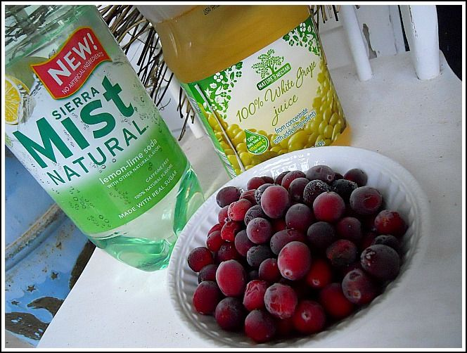 punch ingredients: Clear pop white grape juice