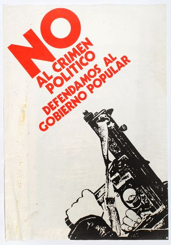 No al crimen politico. Unidad Popular. Chile, 1970s.