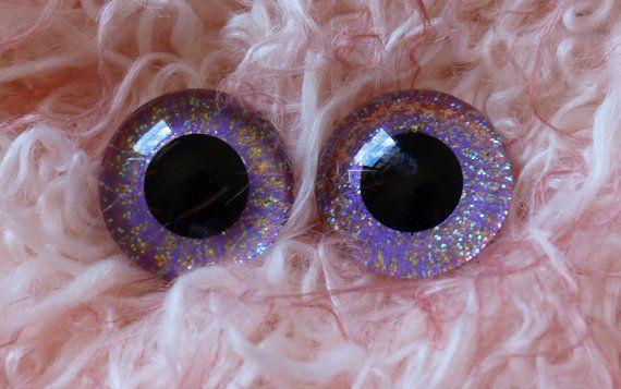 22mm Hand Painted German Glass Eyes 1 pairAmethyst by BearsnBitz 22mm Hand Painted German Glass Eyes (1 pair) Deep Purple & Green,glass eyes, teddy bear eyes, hand painted glass eyes,22mm,german glass eyes,sapphire,green,gold,blue,purple,sparkle,glitter