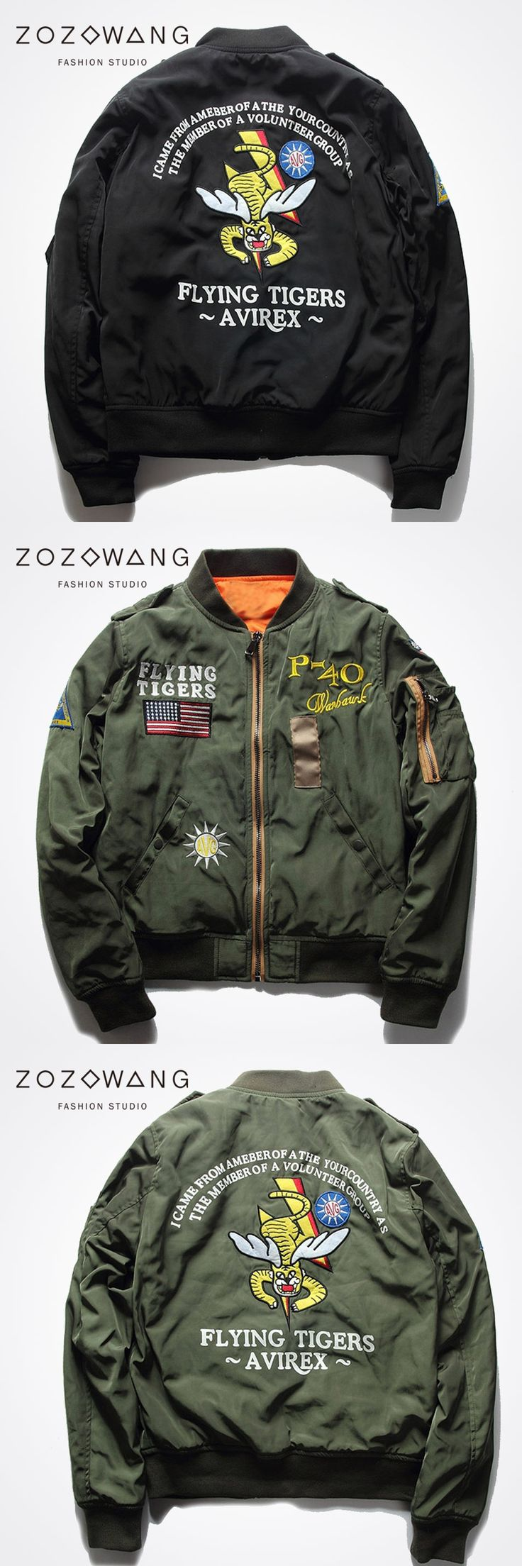 Spring Man Air Force pilot badge embroidered baseball uniform jacket plus fertilizer to increase short paragraph jacket