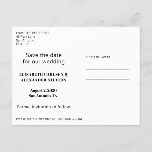 Bold Typography Wedding Save the Date with Photo  #511