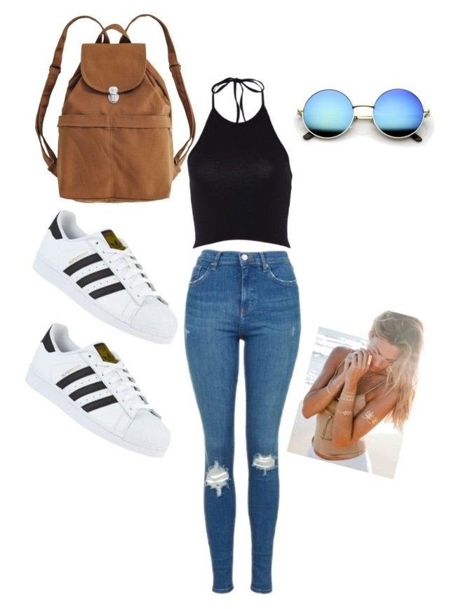 """Festival 2016"" by fashion-girl-katrina on Polyvore featuring Topshop, adidas and BAGGU"