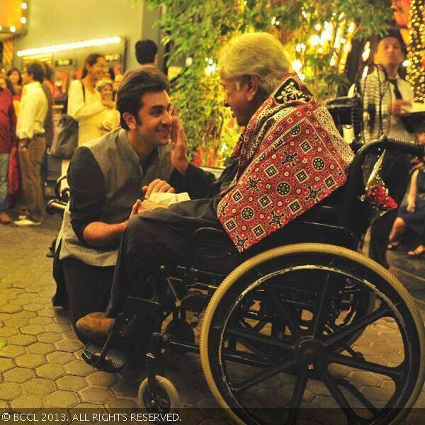 Shashi Kapoor and Ranbir Kapoor