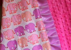 how to sew a ruffle minky baby blanket diy tutorial