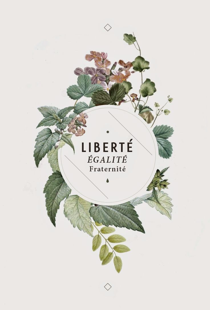 Poster design trends 2015 - Libert Egalit Fraternit Motto Of The French Revolution Liberty Equality Brotherhood Beautiful Typography In Floral Wreath Faded Off White Design Love