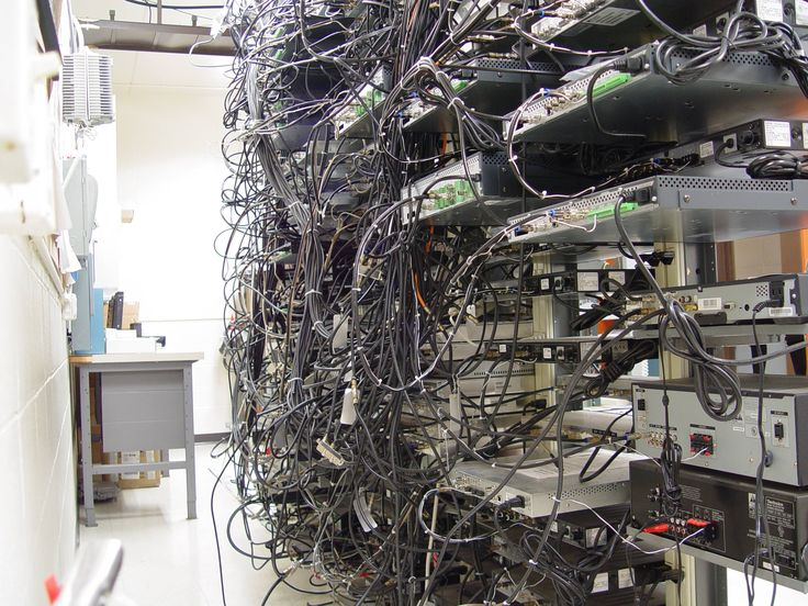13 Best Images About Messy Cable Closets Amp Server Rooms On