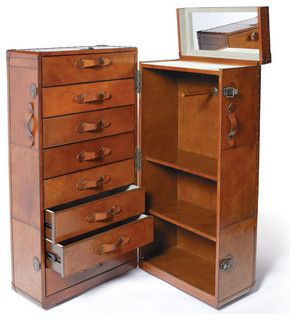 Churchill Trunk Wardrobe - eclectic - closet organizers - by Indeed Decor