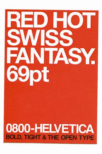 HELVETICA: bold / tight / the open type
