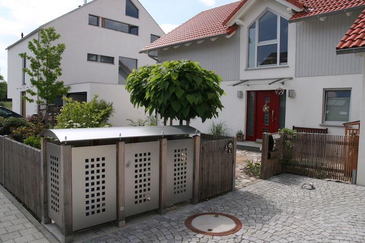 13 besten m lltonnenbox bilder auf pinterest terrasse anthrazit und hauseingang. Black Bedroom Furniture Sets. Home Design Ideas
