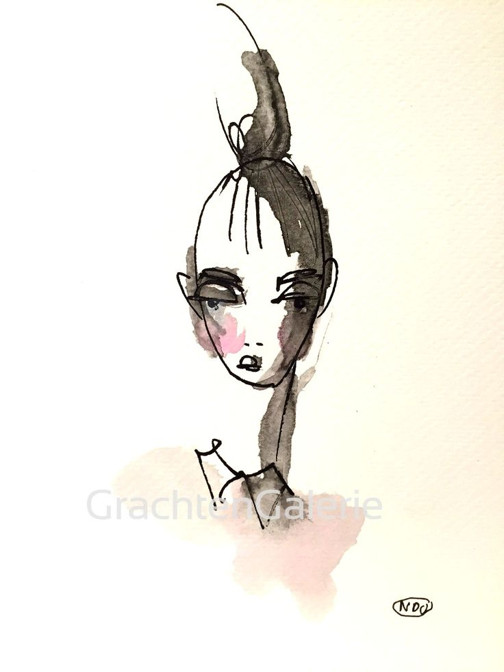 Noortje den Oudsten | Present lady 8 | tekening | kunst | illustratie | mode | aquarel | kunstcadeau | cadeau | drawing | art | illustration | fashion | presents