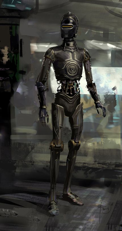 the-art-of-rogue-one-_-k-2so-early-concept-art --- This is interesting but I'm glad they went with a different design