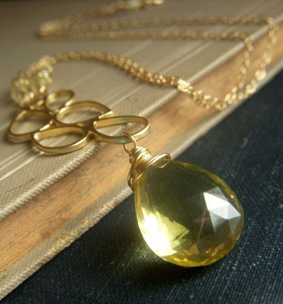 87 best jewelry lemon quartz lusciousness images on pinterest lemon quartz necklace by beadstylin mozeypictures Images