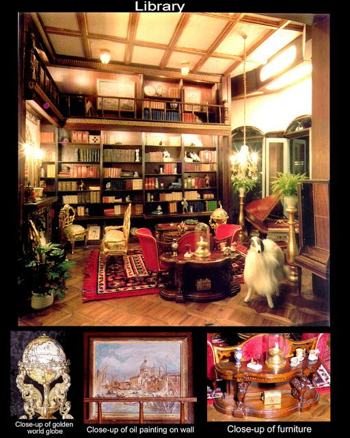 33 Best Dollhouse Libraries Images On Pinterest