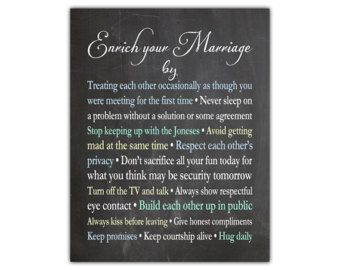 Marriage Quote Wedding Gift For S Newlyweds Anniversary Sign Newlywed