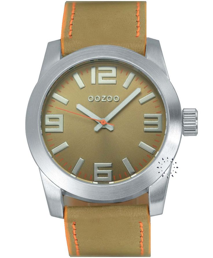 OOZOO Small Τimepieces Beige Leather Strap Η τιμή μας: 69€ http://www.oroloi.gr/product_info.php?products_id=34628