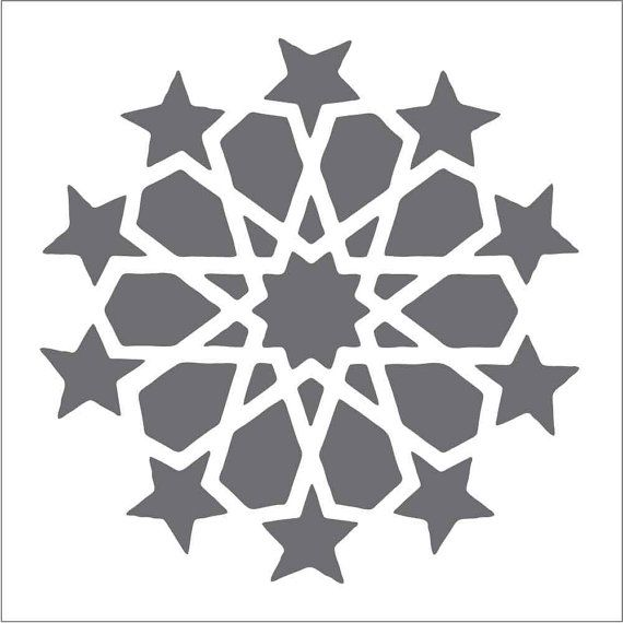 Moroccan Large Circle on Reusable 10MIL Laser-Cut Stencil - pearldesignstudio