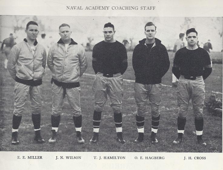 1934 Navy coaching staff Notre dame football, Football