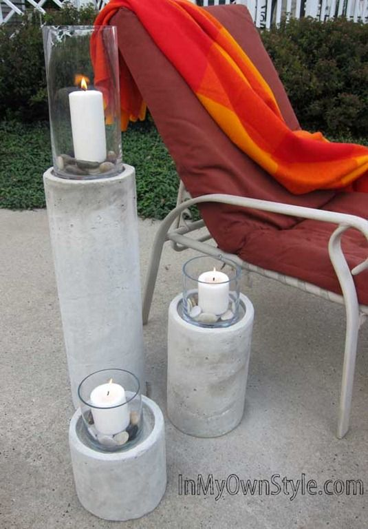 Restoration Hardware Knock-Off - Laguna Concrete Fire Column